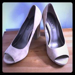 """Moda peep toe 3.5"""" heels"""